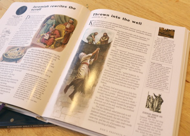 Elementary Bible and Grammar Curriculum Review from School Time Snippets