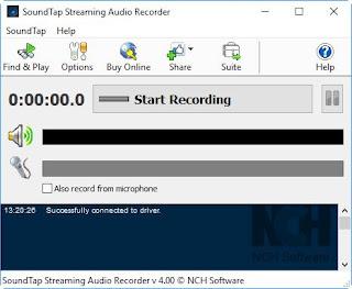 Registrare con SoundTap