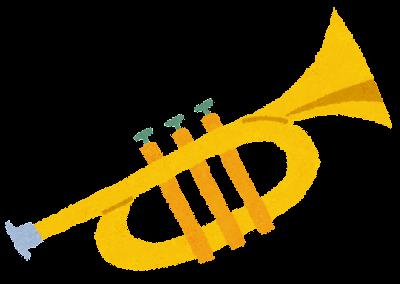トランペットのイラスト(管楽器)