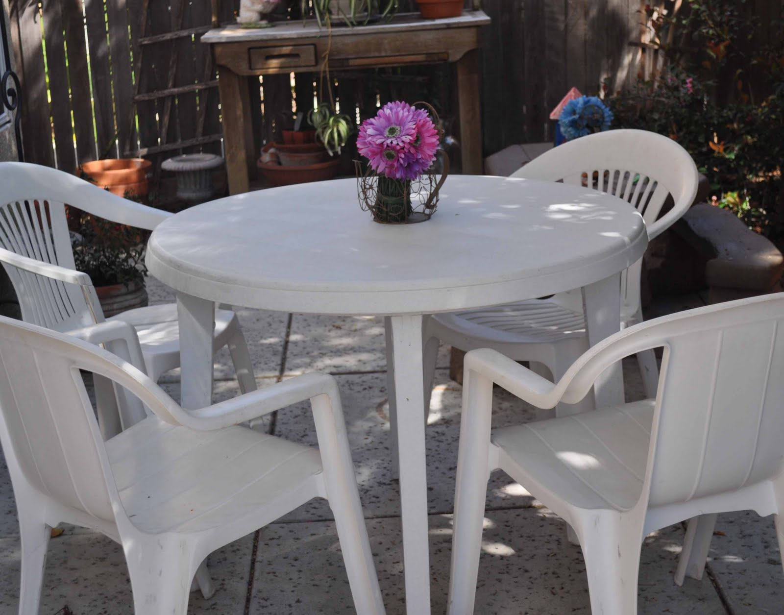 Resin Patio Furniture Makeover Laura K Bray Designs