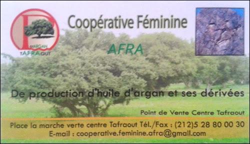 Coopérative féminine AFRA à Tafraout