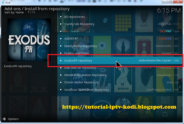 Select ExodusFR repository