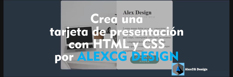 Crea-una-tarjeta-de-presentación-con-HTML-y-CSS-por-ALEXCG-DESIGN