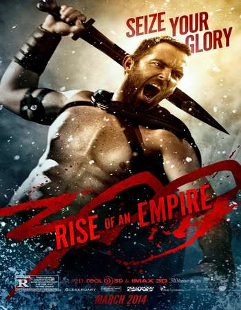Poster Of 300 Rise of an Empire 2014 Dual Audio 720p BRRip [Hindi - English] ESubs Free Download Watch Online downloadhub.in