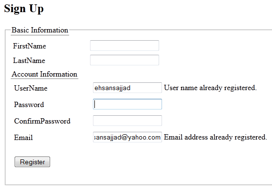 Development Passion: Check If username/email already