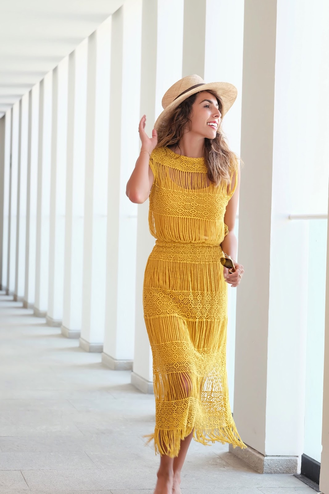 what to wear in mexico, yellow crochet dress, lulus vacation dresses, mexico vacation outfit