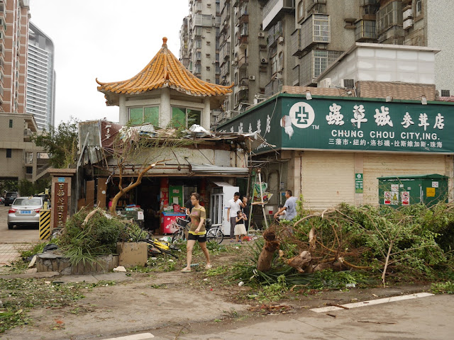 Damage from Typhoon Hato in Zhuhai