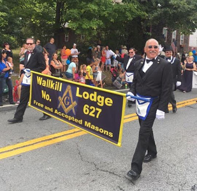 Wallkill Lodge Masons Banner in a Parade | Banners.com
