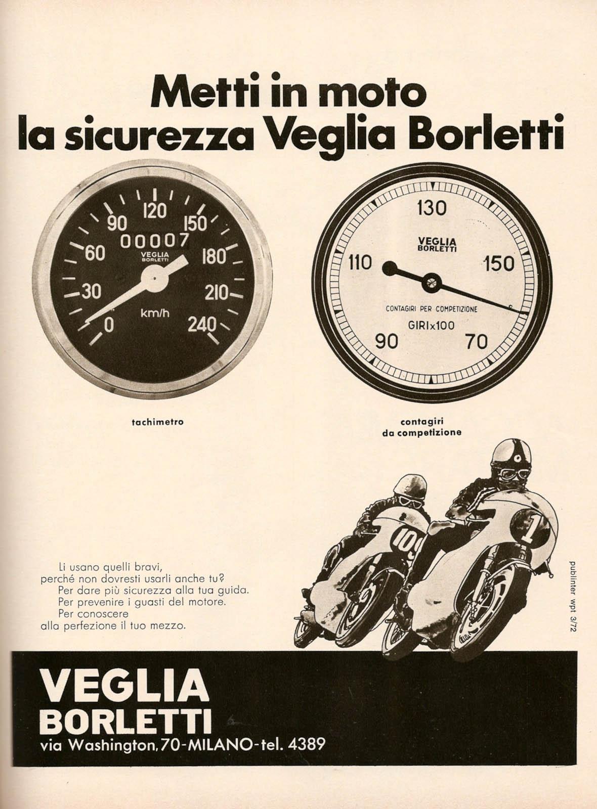 Racing Caf U00e8  Vintage Brochures  Veglia Borletti 1972