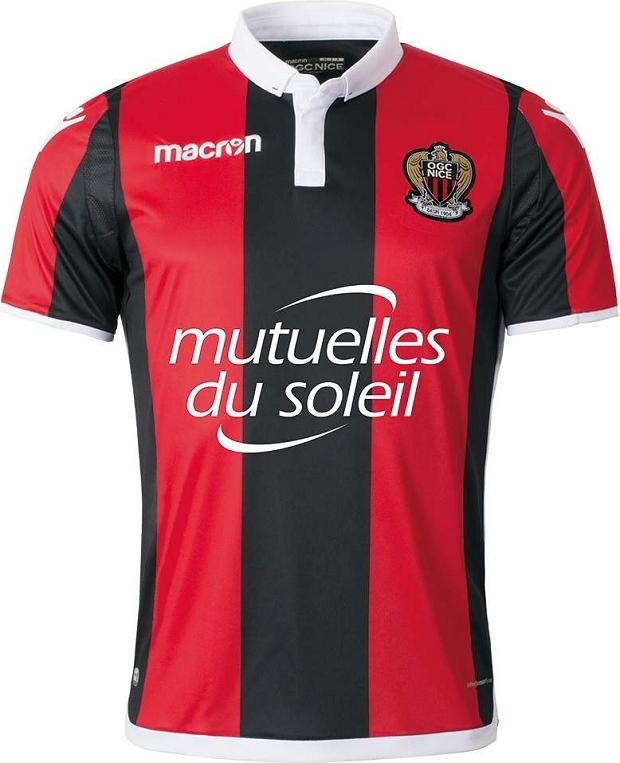 1f3c0afa5e Macron divulga as novas camisas do Nice - Show de Camisas
