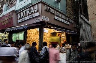 natraj dahi bhalle wala at the chandani chowk delhi