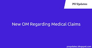 New OM Regarding Medical Claim : Relaxation of Rules for consideration of reimbursement in excess of the approved rates.