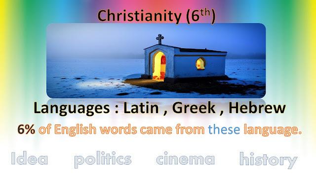 تطور اللغة الإنجليزية , وظهور الدين المسيحي