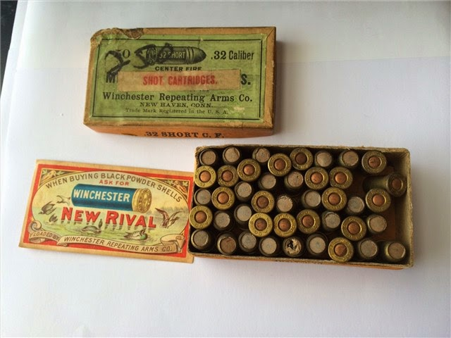 Antique Winchester .32 Cal Short Shot Cartridges