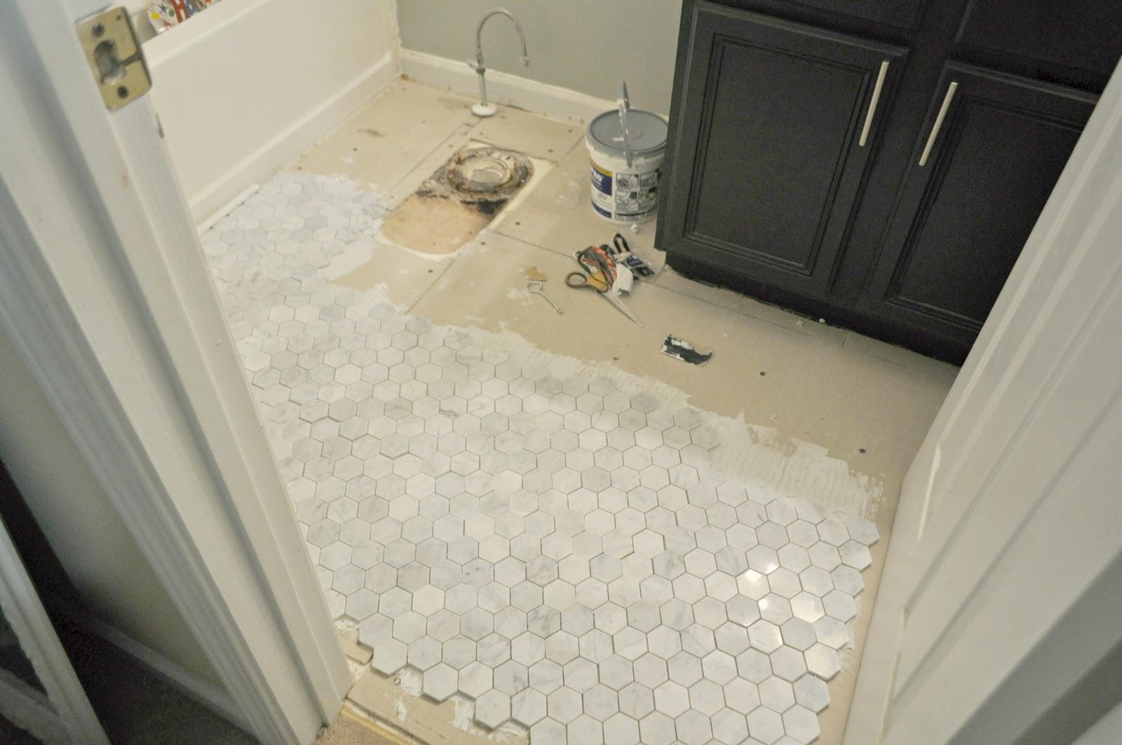 mosaic marble floor tile