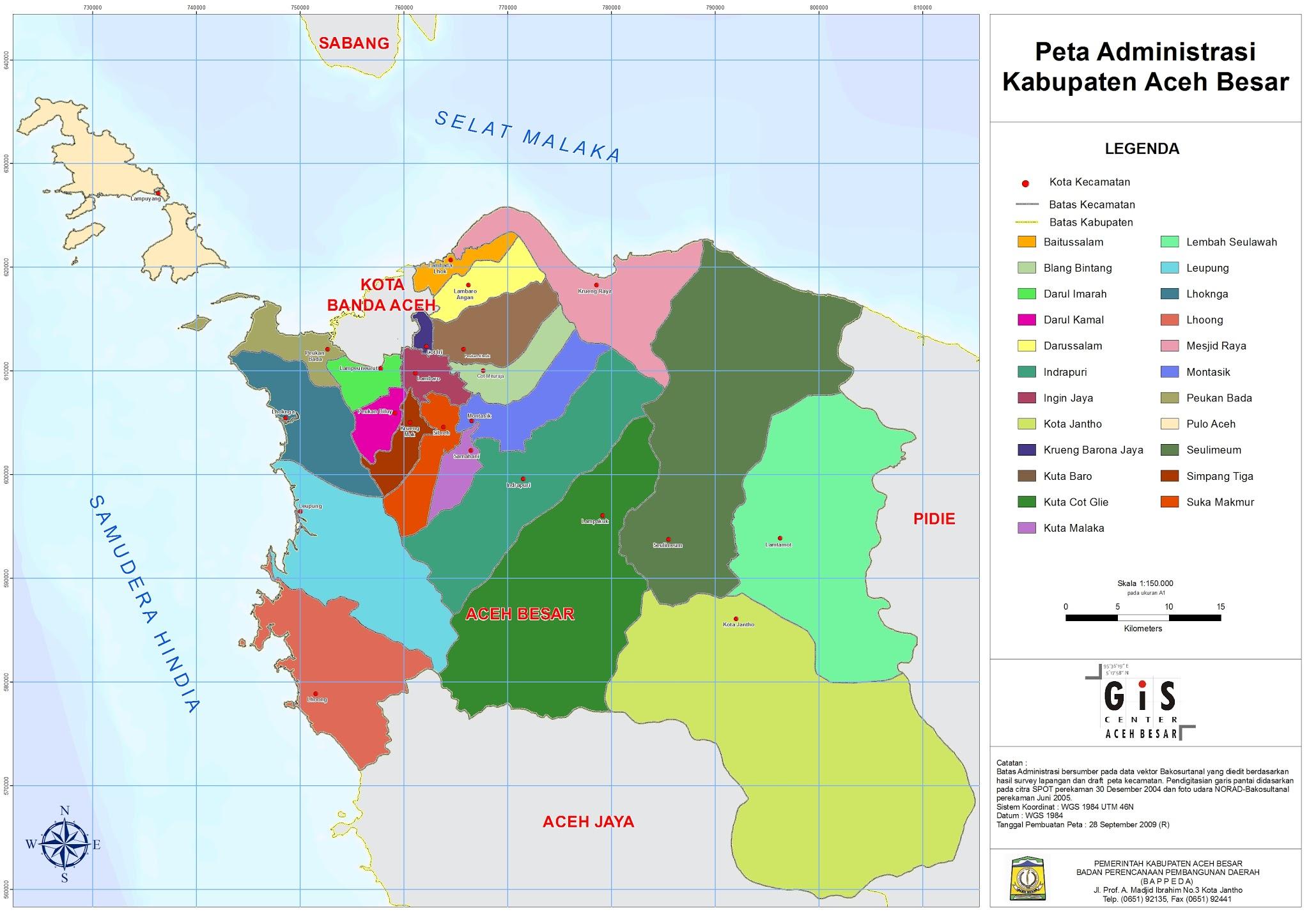 Peta Kota: Peta Kabupaten Aceh Besar