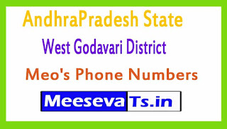 West Godavari District Meo's Phone Numbers-Mobile Numbers Andhra Pradesh State