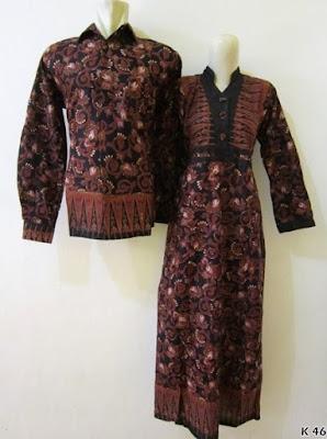 baju couple batik lengan panjang modern
