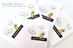 You're the Bees Knees Card Set by Samantha Mann | Winston's Honeybees Stamp set by Newton's Nook Designs #newtonsnook