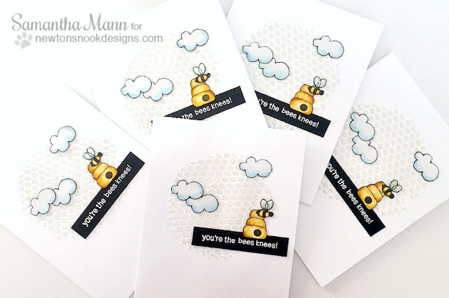 You're the Bees Knees Card Set by Samantha Mann   Winston's Honeybees Stamp set by Newton's Nook Designs #newtonsnook