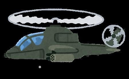 軍用ヘリコプターのイラスト