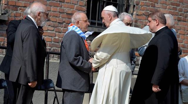 Vítimas de Auschwitz e associações judaicas se unem ao papa contra o ódio