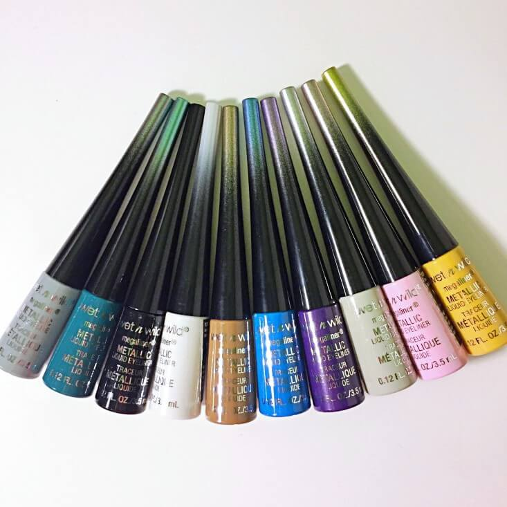 wet n wild Fantasy Makers megaliner Metallic Liquid Eyeliners