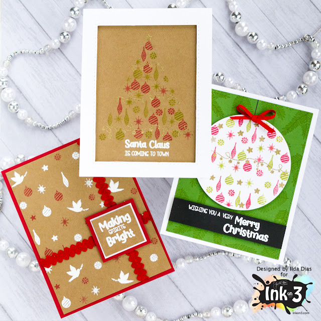 Ink On 3 | Holiday Blessings Christmas Trio Card Set by ilovedoingallthingscrafty.com