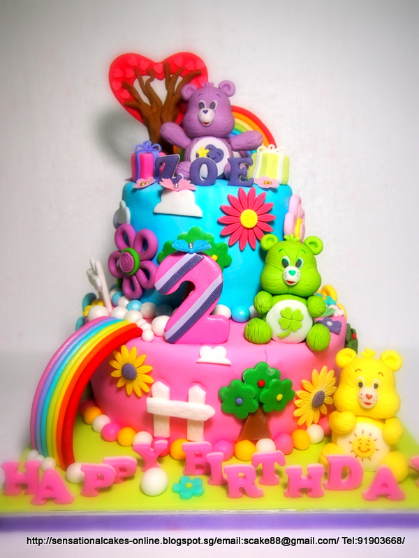 The Sensational Cakes Care Bears 3d Cake Singapore Me