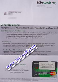 Advcash اتبات التوصل ببطاقة ادفكاش البنكية وتفعيلها