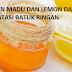 Manfaat Madu dan Lemon Untuk Mengatasi Gejala Batuk Ringan
