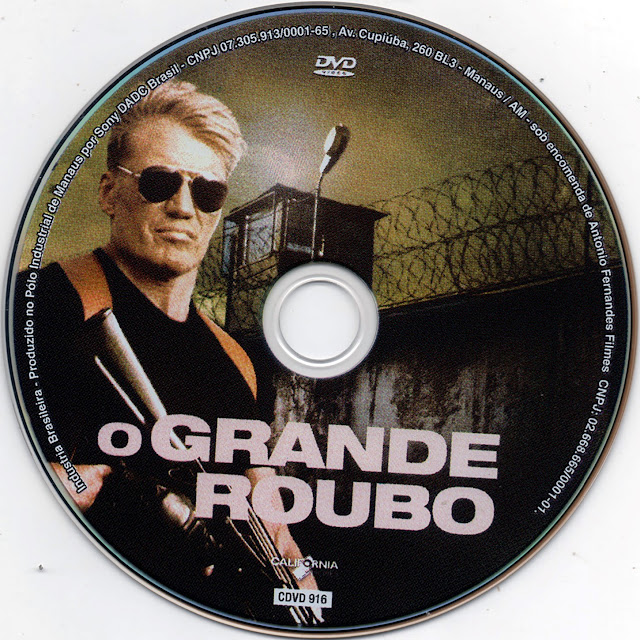 Label DVD O Grande Roubo