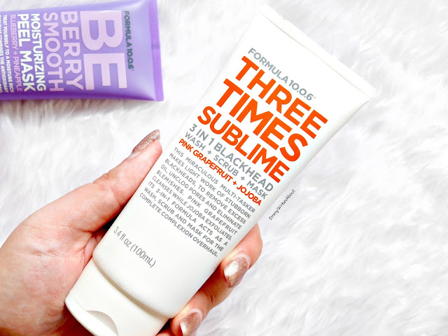 Three Times Sublime 3 in 1 Blackhead Scrub Review