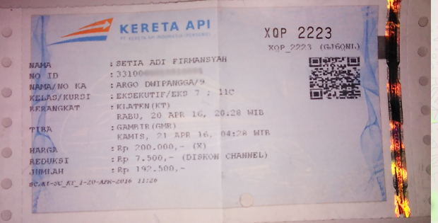 Tiket Dwipangga
