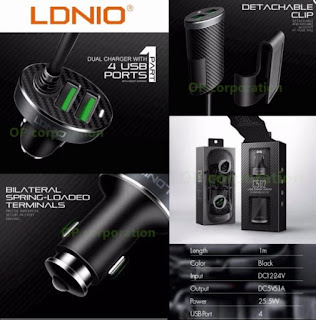 4 USB Car Charger 5.1A