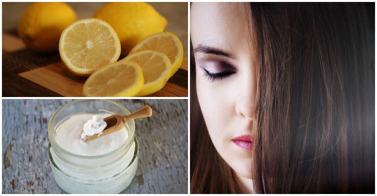 lemon, coconut oil, hair