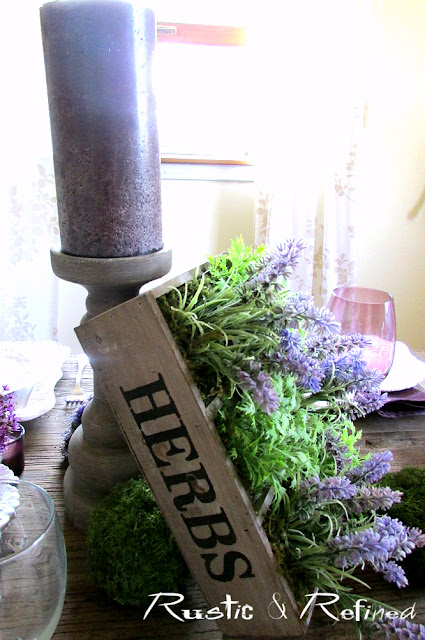 Rustic Spring Table for entertaining guests and family