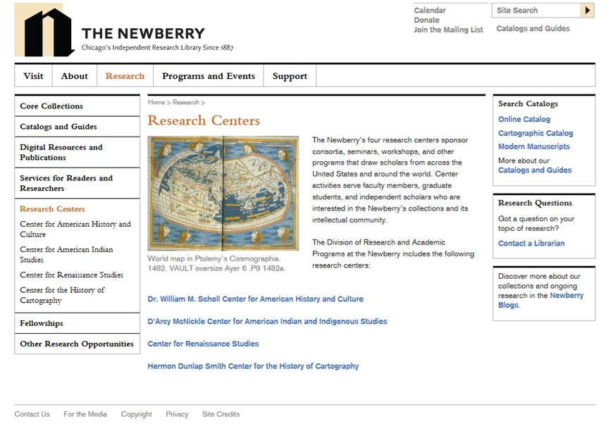 The Newberry Research Centers