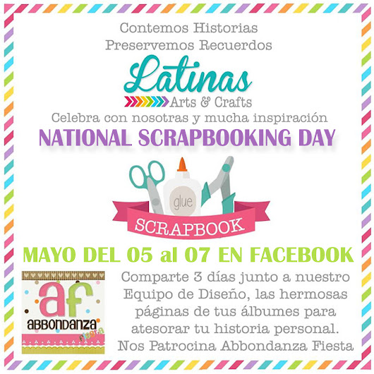 National Scrapbook Day 2017 con Latinas Arts and Crafts