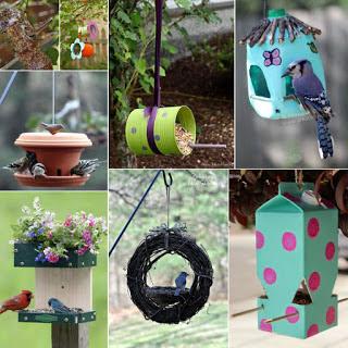 DIY Ταΐστρες - σπιτάκια πουλιών