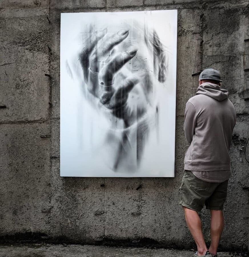 08-Run-with-me-Igor-Dobrowolski-Large-Oil-Paintings-Double-Exposures-www-designstack-co