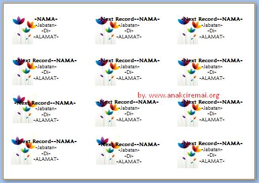 Penulisan Nama Di Label Undangan 103 Kalam Azhar