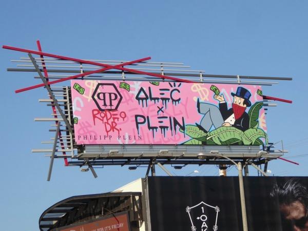 Alec Monopoly and Philipp Plein billboard