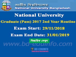 National University (NU) Graduate (Pass) 2017 3rd Year Exam Routine