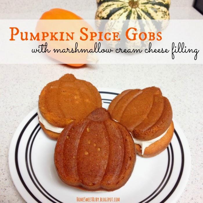 Pumpkin Gobs Using Cake Mix