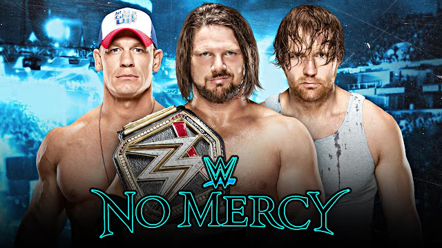 John Cena Dean Ambrose AJ Styles WWE No Mercy World Championship Triple Threat