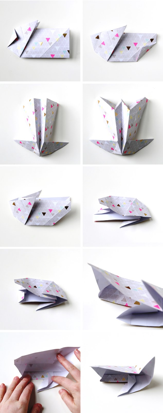 how to make an origami box bunny howstoco