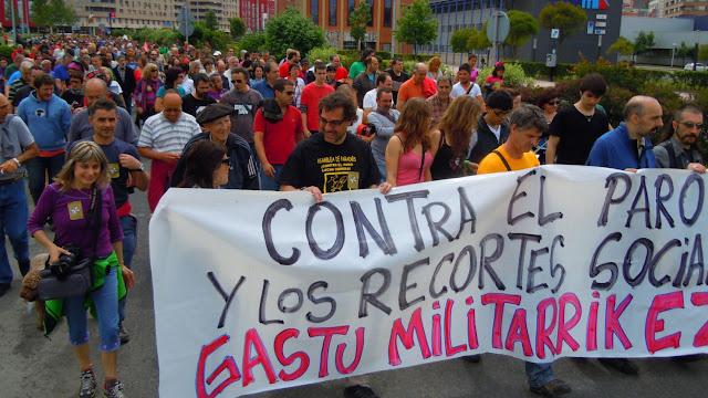 Marcha comarcal contra el paro y los recortes sociales