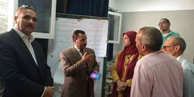 زيارة سيادة وكيل المديرية / خلاف إبراهيم مدرسة أحمد ضيف الله