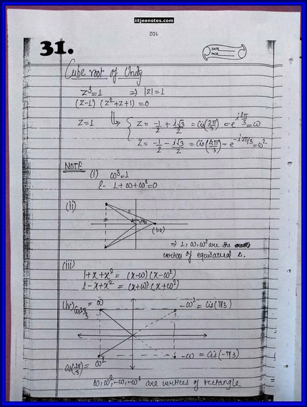 IITJEE Competition Notes On Complex Number 7